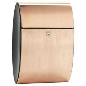 Allux Series Copper Colored Mailboxes Ellipse