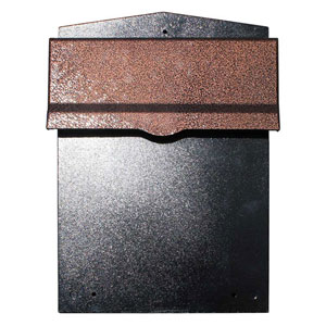 Letta safe Antique Copper Wall or Column Mount Mailbox with Drop Chute and Letterplate
