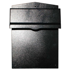 Letta safe Black Wall or Column Mount Mailbox with Drop Chute and Letterplate