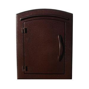 Manchester Antique Copper Non-Locking Column Mount Mailbox