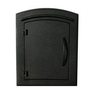 Manchester Black Non-Locking Column Mount Mailbox