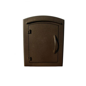 Manchester Bronze Non-Locking Column Mount Mailbox
