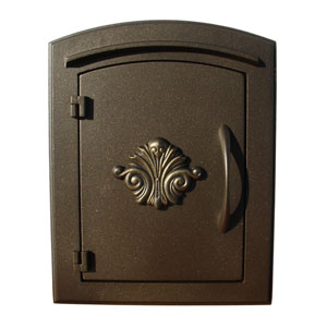 Manchester Bronze Non-Locking Decorative Scroll Door Column Mount Mailbox