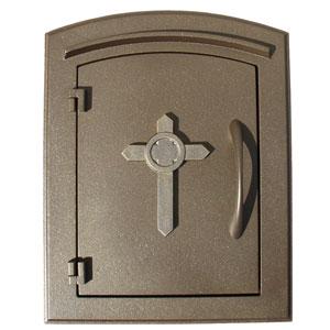 Manchester Bronze Non-Locking Decorative Cross Logo Door Column Mount Mailbox