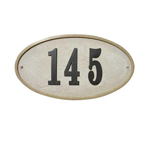 Ridgestone Sandstone Oval Crushed Stone Do It Yourself Kit Address Plaque