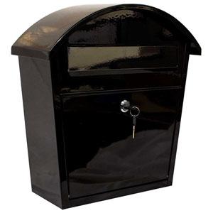 Ridgeline Locking Mailbox in Black