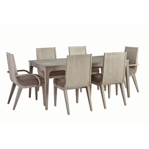 Alexandra White Seven Piece Dining Set With Rectangular Table