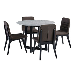 Clara Round Dining Table with Marble Top and Fredrick Chairs