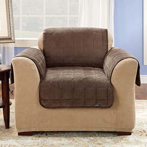Chocolate Deluxe Chair Pet Throw Cover
