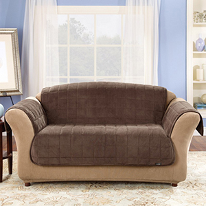 Chocolate Deluxe Loveseat Pet Throw Cover