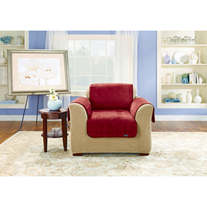 Burgundy Deluxe Chair Pet Throw Cover