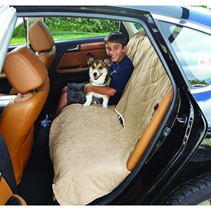Taupe Large Soft Suede and Sherpa Reversible Auto Bench Seat
