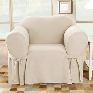 Natural Cotton Duck Chair Slipcover