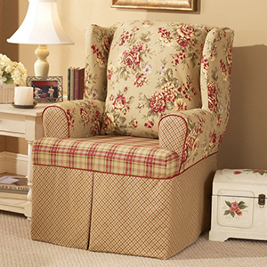 Multi Lexington Wing Chair Slipcover