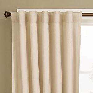 Natural Cotton Rod Pocket Drape Window Treatment