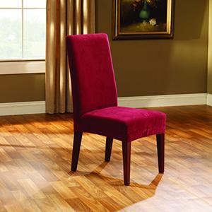 Garnet Stretch Pique Short Dining Room Chair Slipcover