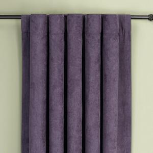 Plum Soft Suede Rod Pocket Drape Window Treatment