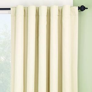 Natural Logan Rod Pocket Drape Window Treatment