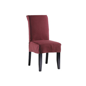Merlot Twill Supreme Short Dining Room Chair Slipcover