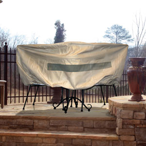 Hearth and Garden Taupe Bistro Table Cover