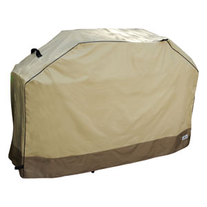 Heavy Duty Taupe with Olive Green Premium Grill Cover