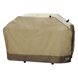 Heavy Duty Taupe with Olive Green Premium Grill Covers