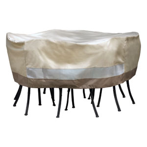 Heavy Duty Taupe with Olive Green Table/Chair Cvr Sets