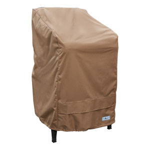 Earth Brown Patio Armor Stack of Chairs Cover