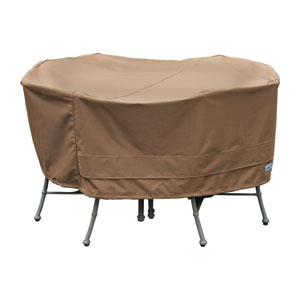 Earth Brown Patio Armor Round Table and Chair Cover