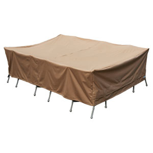 Earth Brown Patio Armor XL Rectangular Table and Chair Cover