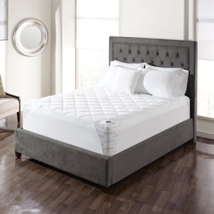 White Breathable Twin Mattress Pad