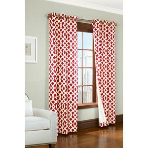 Trellis Red 63 x 80-Inch Grommet Curtain Panel Pair