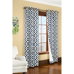 Trellis Navy 95 x 80-Inch Grommet Curtain Panel Pair