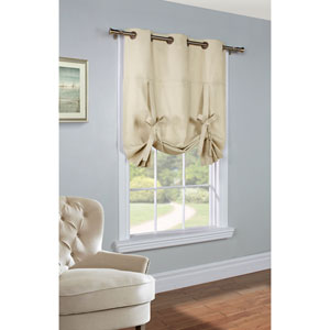 Weathermate Natural 63 x 40-Inch Tie Up Curtain Single Panel