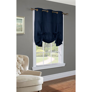 Weathermate Navy 63 x 40-Inch Tie Up Curtain Single Panel
