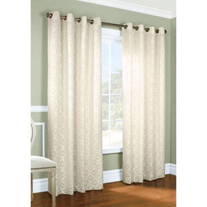 Anna Ivory 63 x 104-Inch Grommet Curtain Panel Pair