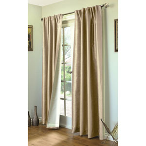Ming Taupe 84 x 104-Inch Lined Curtain Panel Pair