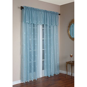 Habitat Aqua 84 x 54 In. Roslyn Panel Set