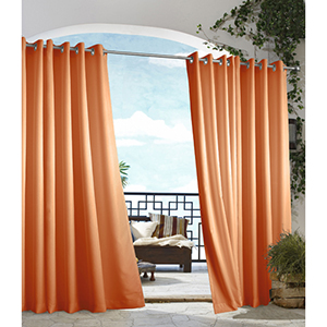 Outdoor Decor Orange 50 x 84-Inch Gazebo Solid Grommet Top Single Panel