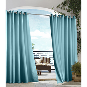 Outdoor Decor Blue 50 x 84-Inch Gazebo Solid Grommet Top Single Panel