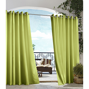 Outdoor Decor Green 50 x 96-Inch Gazebo Solid Grommet Top Single Panel