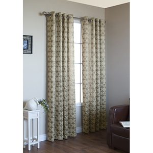 Habitat Gold 54 x 95-Inch Mayan Grommet Top Single Panel