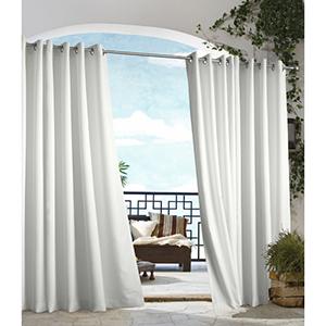 Outdoor Decor White 50 x 108-Inch Gazebo Solid Grommet Top Single Panel