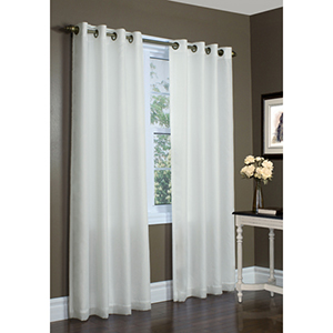 Thermavoile™ Ivory 54 x 84-Inch Rhapsody Lined Grommet Top Single Panel