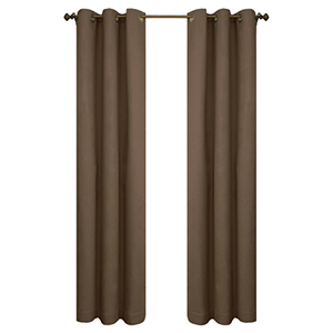Thermalogic™ Chocolate 80 x 54-Inch Weathermate Grommet Top Two Panel Pair