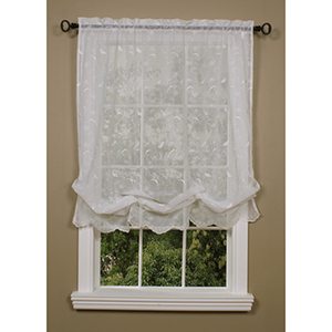 Habitat White 54 x 63-Inch Hathaway Balloon Single Curtain