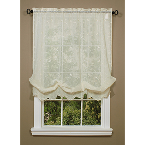 Habitat Cream 54 x 63-Inch Hathaway Balloon Single Curtain