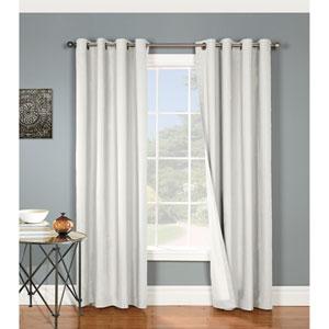Nantucket White 63 x 54-Inch Grommet Curtain Single Panel