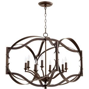 Atwood Oiled Bronze Eight-Light Pendant