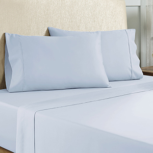 Baby Blue 4 Piece Full Cotton Rich Sheet Set